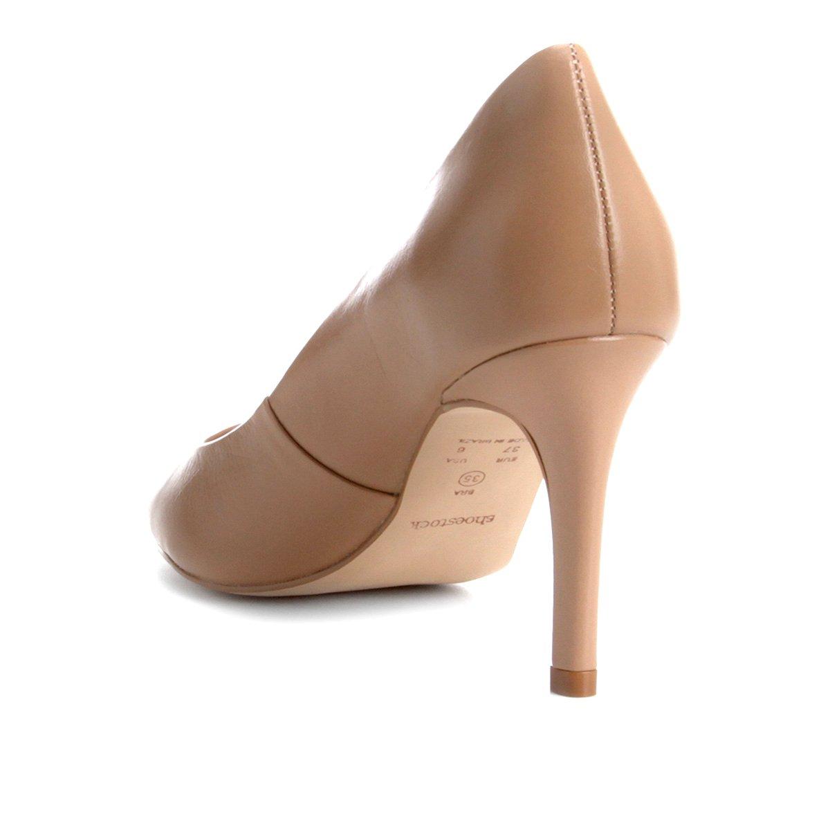 Alto Shoestock Couro Scarpin Salto Nude Couro Shoestock Básico Scarpin W4wSqvY7