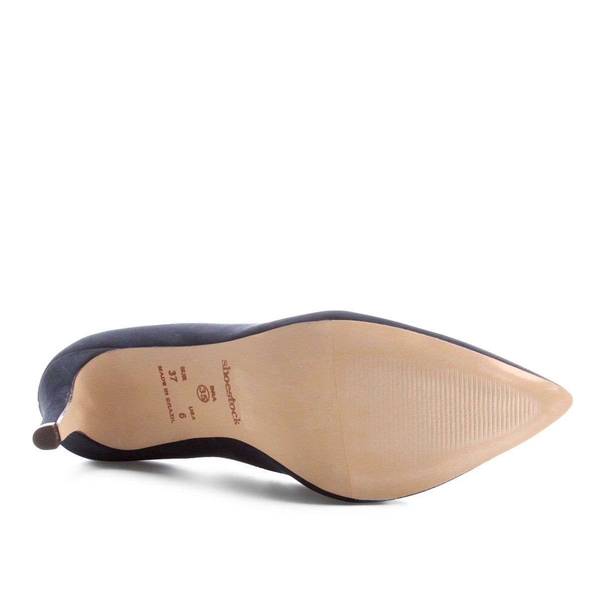 Scarpin Salto Couro Shoestock Couro Shoestock Alto Básico Salto Marinho Scarpin S6xrSYqZ