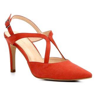 Scarpin Couro Shoestock Salto Alto Curvas
