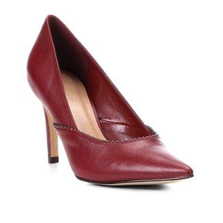 Scarpin Couro Shoestock Salto Alto Glam
