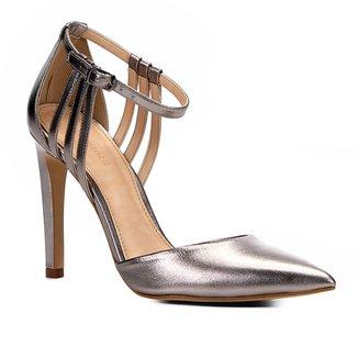 Scarpin Couro Shoestock Salto Alto Minimal