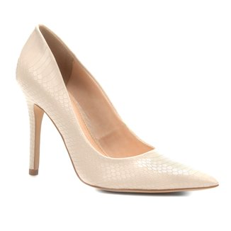 Scarpin Couro Shoestock Salto Alto Naja