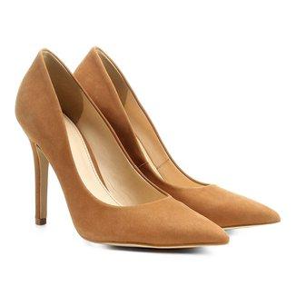 Scarpin Couro Shoestock Salto Alto Nobuck