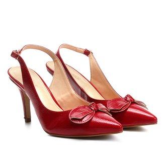 Scarpin Couro Shoestock Salto Alto Verniz