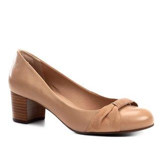 Scarpin Couro Shoestock Salto Baixo Tira