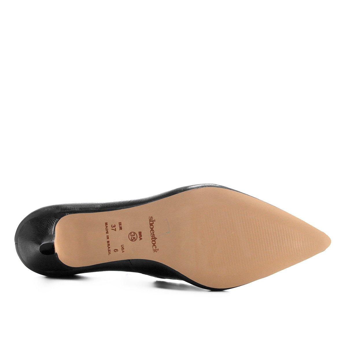 Scarpin Couro Salto Couro Baixo Shoestock Preto Scarpin Preto Couro Salto Shoestock Baixo Scarpin qTpwSfRpEO
