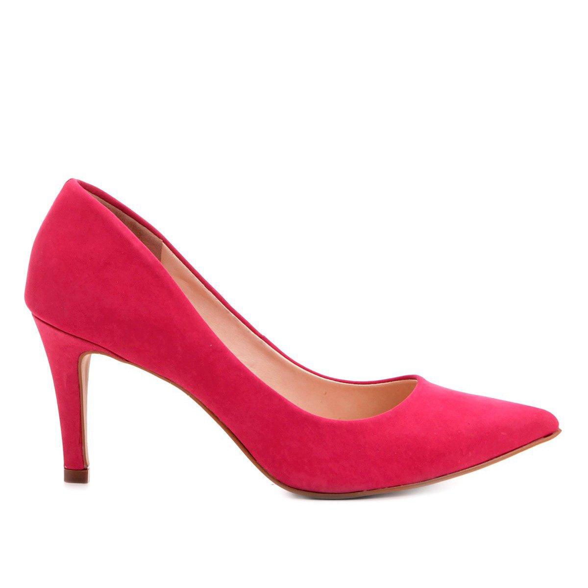 Scarpin Couro Pink Salto Couro Médio Shoestock Scarpin Shoestock Nobuck Salto FZqEq