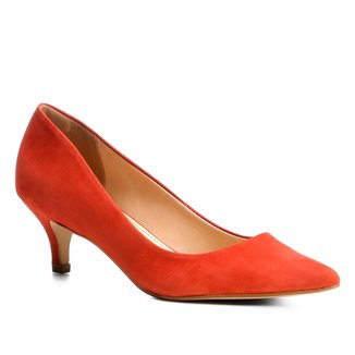 Scarpin Couro Shoestock Salto Médio Nobuck