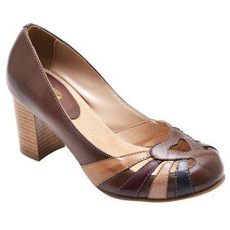 Scarpin em Couro D&R Shoes Feminino