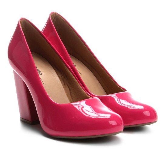 Scarpin Griffe Salto Alto Verniz - Pink