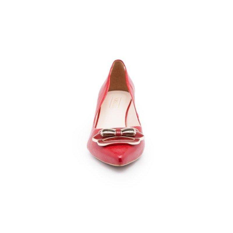 Vermelho Isorella Baixo Scarpin Precious Isorella Berry Scarpin Salto v8qnw07P