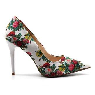 Scarpin Royalz Tecido Penélope Roses Feminino