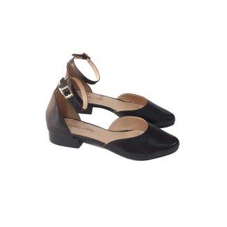 Scarpin Sapatos e Botas Salto Baixo Couro Feminino