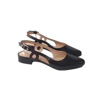 Scarpin Sapatos e Botas Slingback Couro Feminino