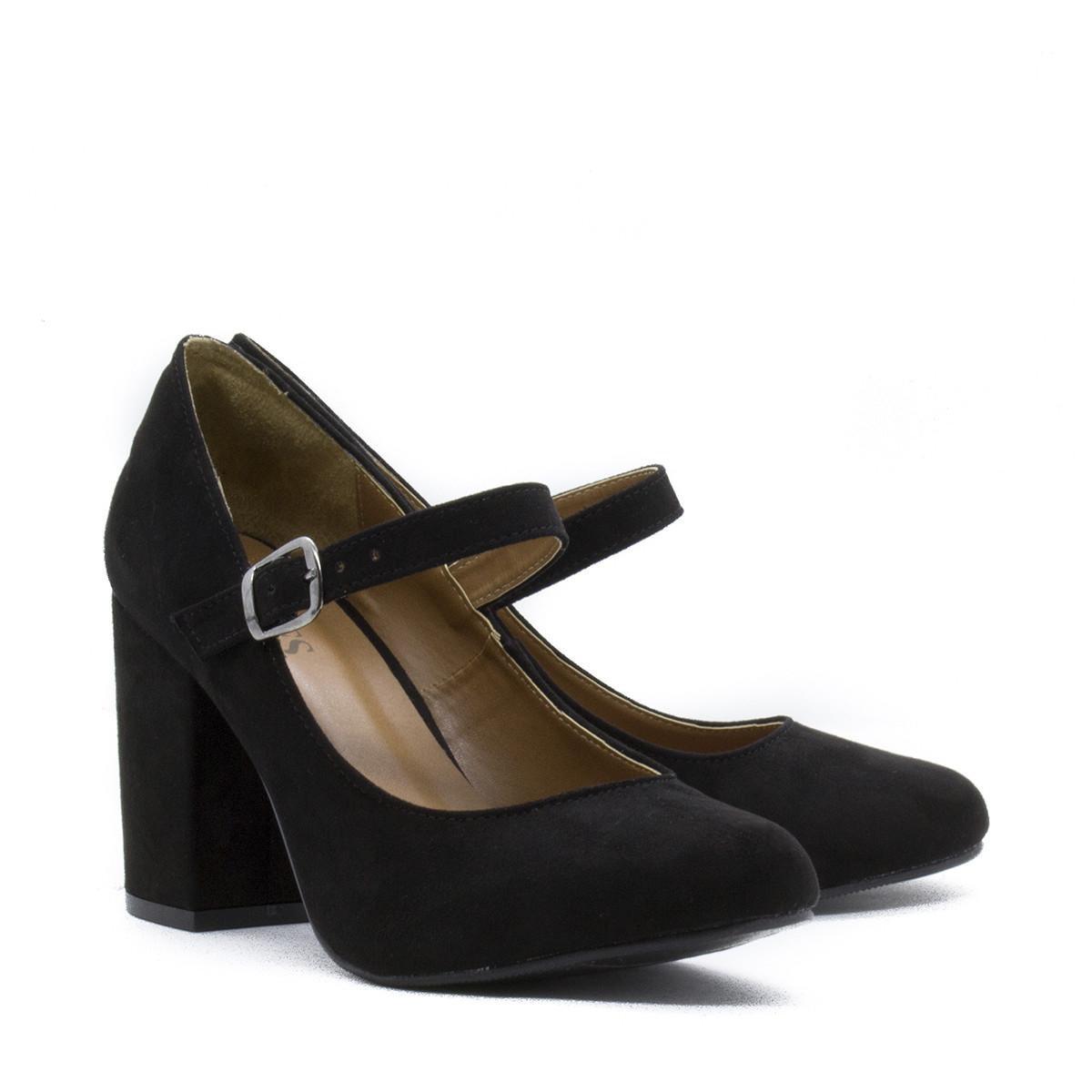 Preto Scarpin Feminino Inbox Shoes Jane Camurça Mary Scarpin Doll Shoes 7w7qFg