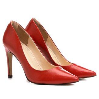 Scarpin Shoestock Bico Fino Couro