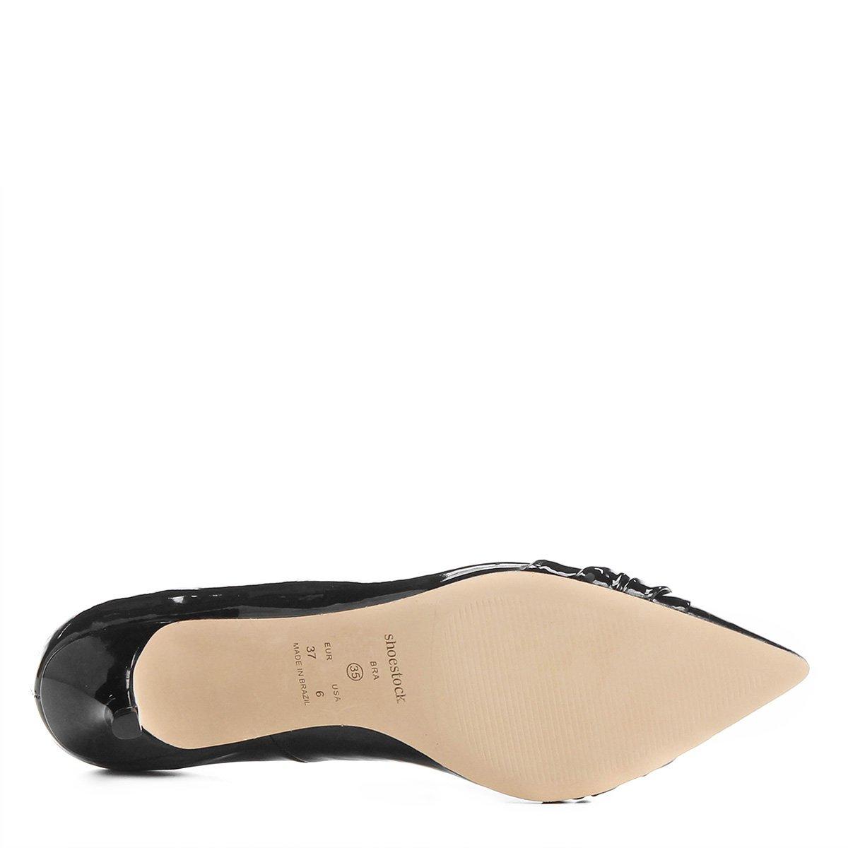 Bico Bico Shoestock Preto Preto Fino Fino Fivela Shoestock Scarpin Bico Fivela Shoestock Scarpin Scarpin IvIwq1xHgC
