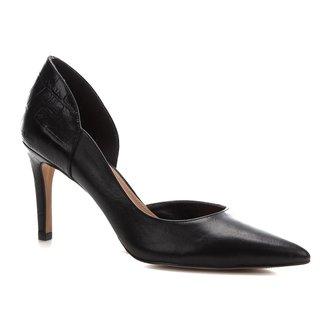 Scarpin Shoestock Couro Croco Salto Alto