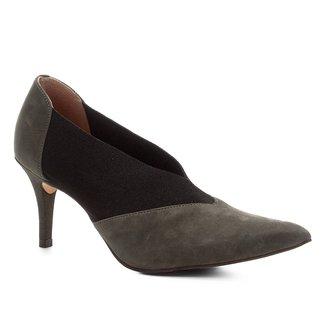 Scarpin Shoestock High Vamp Nobuck Elástico