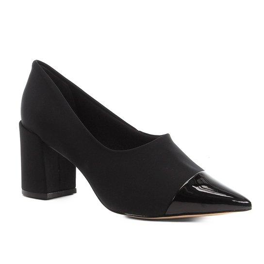 Scarpin Shoestock Modern Verniz - Preto