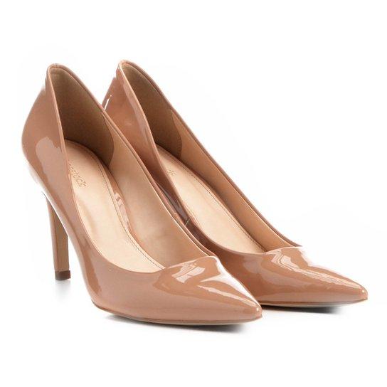 Scarpin Shoestock Salto Alto Bico Fino - Nude