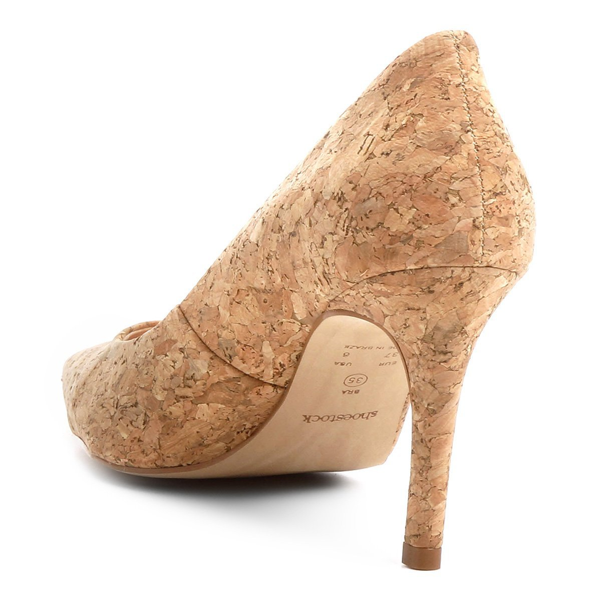 Salto Shoestock Salto Cortiça Bege Alto Alto Shoestock Cortiça Scarpin Salto Scarpin Alto Scarpin Shoestock Bege Cortiça AwEP7xpgq