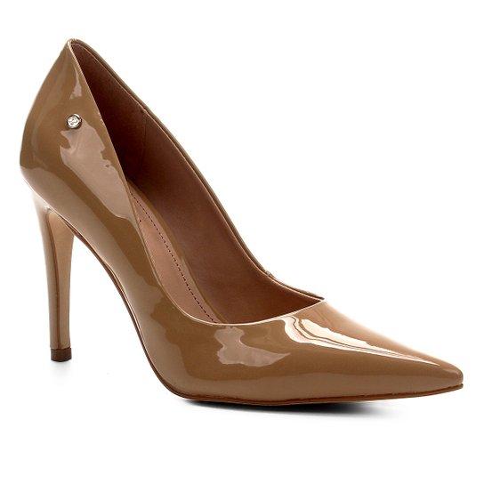 Scarpin Shoestock Salto Alto Naked - Amendoa