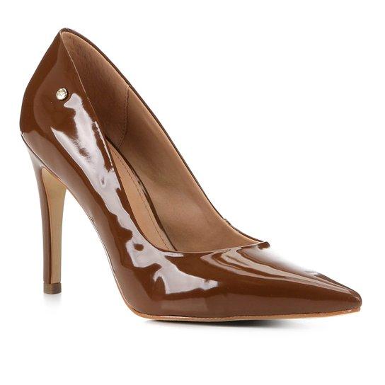Scarpin Shoestock Salto Alto Naked - Avelã