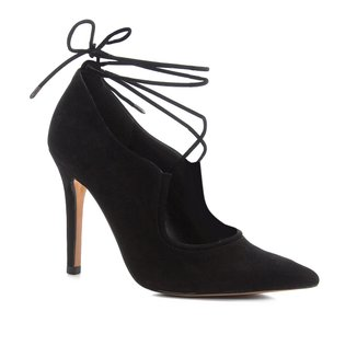 Scarpin Shoestock Salto Alto Nobuck Lace