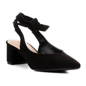Scarpin Shoestock Salto Baixo Amarração