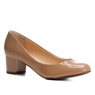 Scarpin Shoestock Salto Baixo Bloco