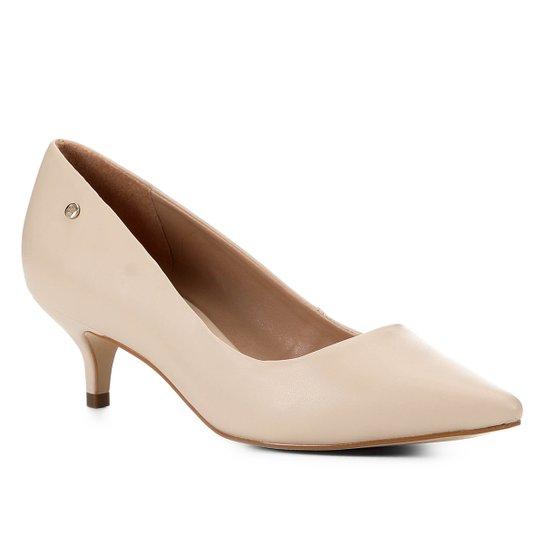 Scarpin Shoestock Salto Baixo Naked - Macadamia