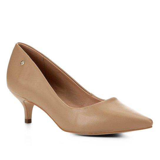 Scarpin Shoestock Salto Baixo Naked - Amendoa