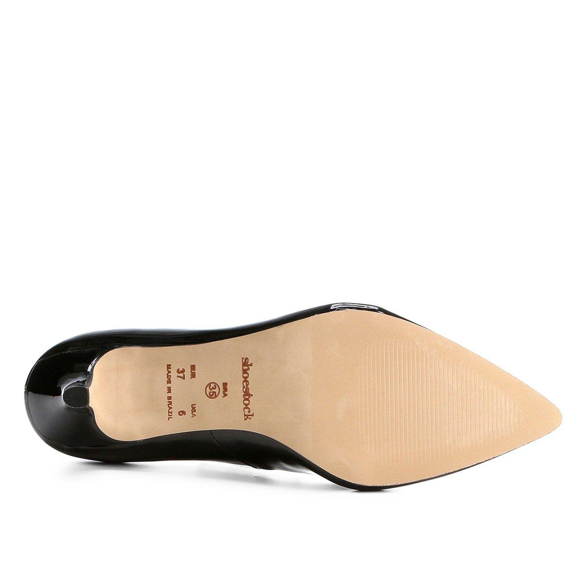 Verniz Baixo Salto Scarpin Preto Shoestock Shoestock Salto Scarpin nWY74wHHvq
