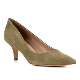 Scarpin Shoestock Salto Médio Classic Nobuck