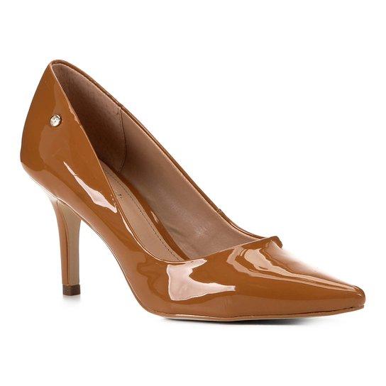 Scarpin Shoestock Salto Médio Naked - Castanha