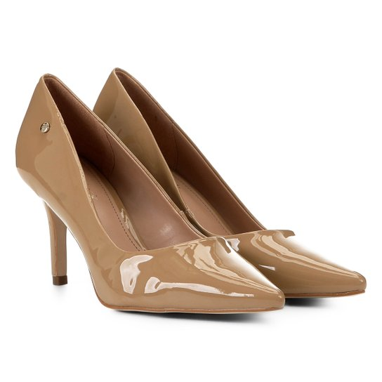 Scarpin Shoestock Salto Médio Naked - Amendoa