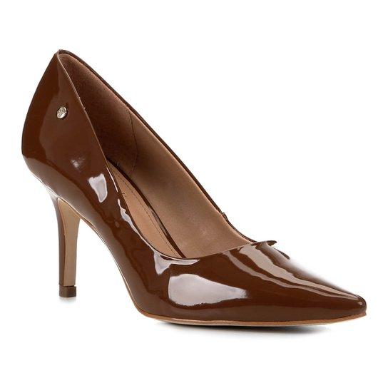 Scarpin Shoestock Salto Médio Naked - Avelã