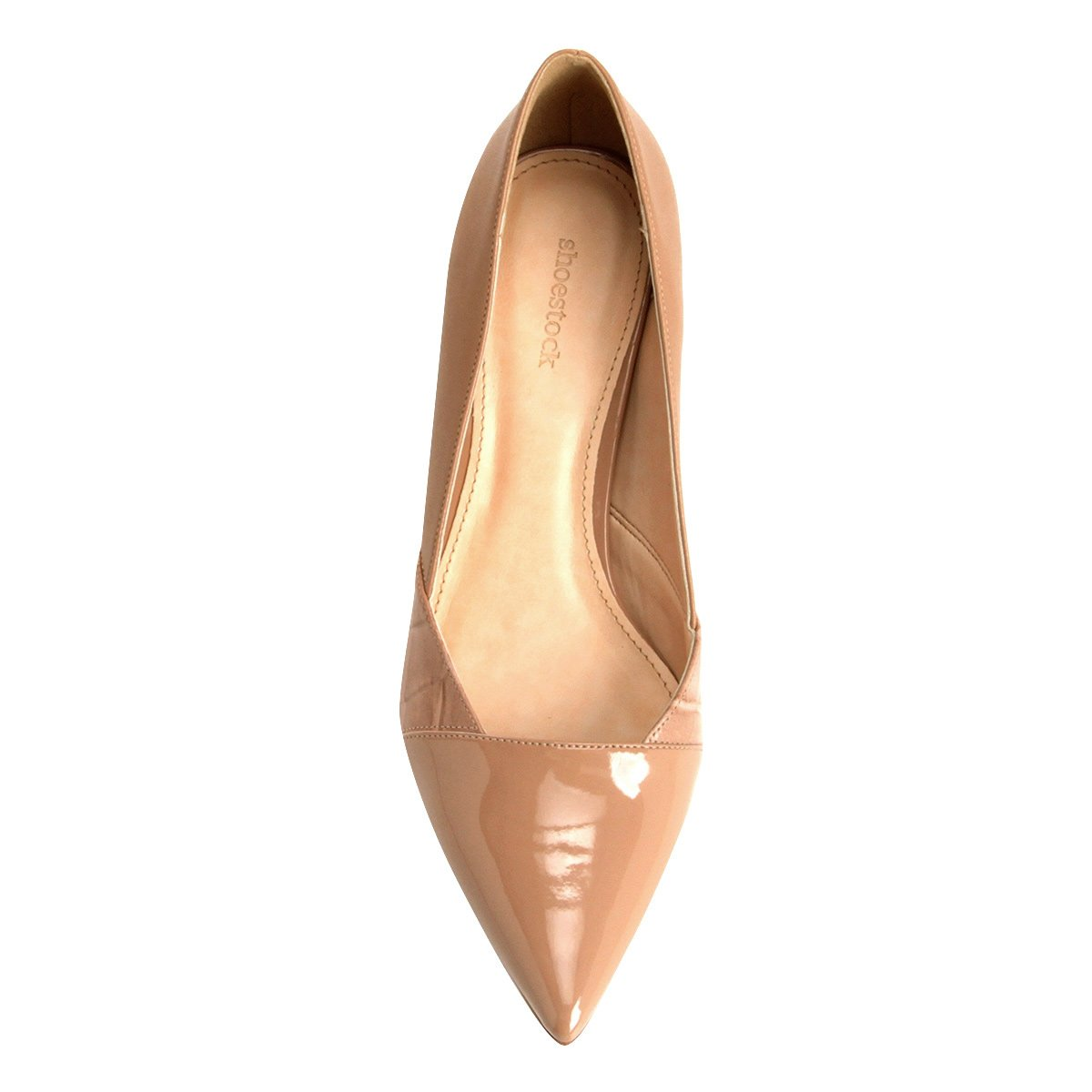 Texturas Scarpin Salto Shoestock Bege Scarpin Médio Shoestock wXqZ6Xnv