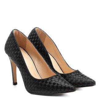 Scarpin Shoestock Tressê Cetim