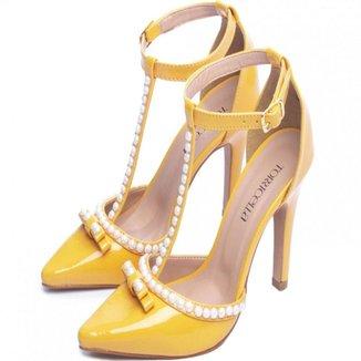 Scarpin Torricella Verniz Amarelo