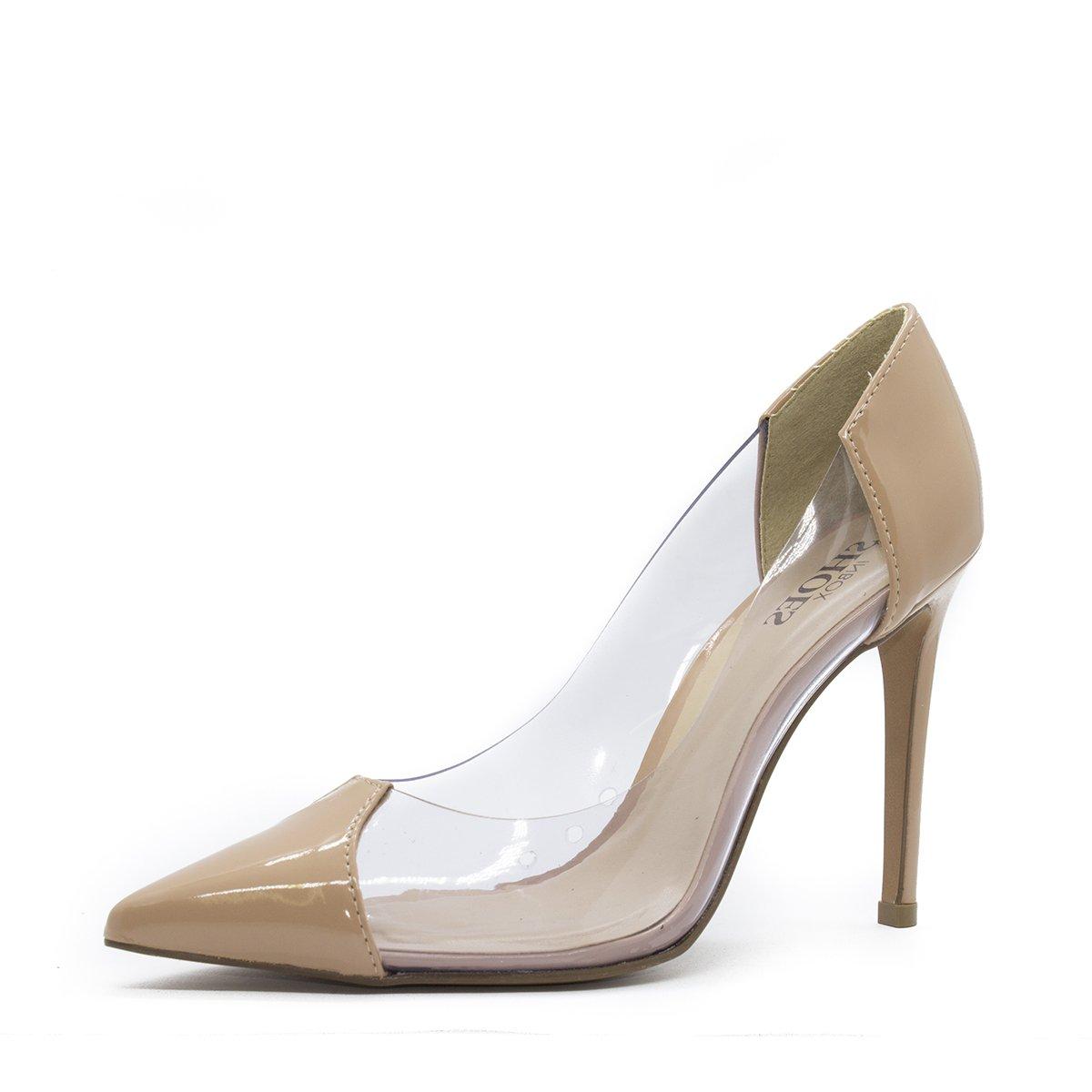 7de39025b Scarpin Vinil Shoes Inbox transparente salto alto fin | Zattini