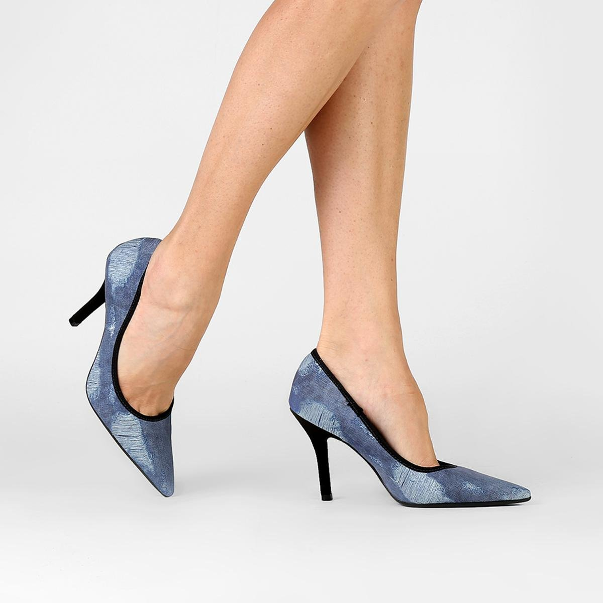 54e049f1e Scarpin Vizzano Jeans - Compre Agora
