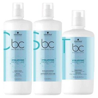 Schwarzkopf BC Hyaluronic Moisture - Shampoo + Condicionador + Máscara Kit