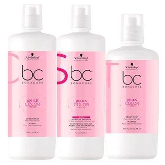 Schwarzkopf BC pH 4.5 Color Freeze Kit - Shampoo + Máscara + Condicionador Kit