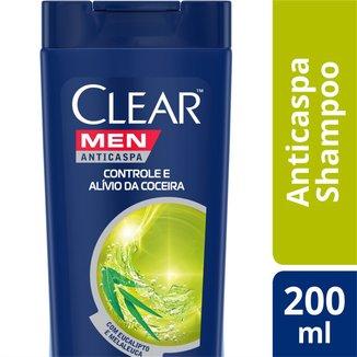 Shampoo Anticaspa Clear Men Controle e Alívio da Coceira 400 ML