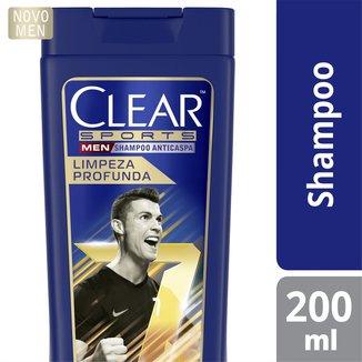 Shampoo Anticaspa Clear Sports Men Limpeza Profunda 200 ML
