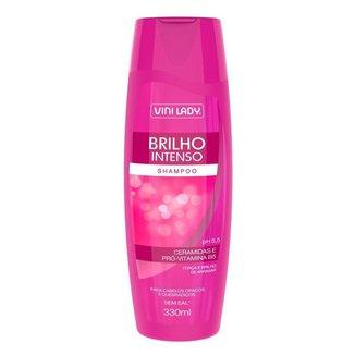 Shampoo Brilho Intenso Ceramidas e Pró-Vitamina B5 330ml Vini Lady
