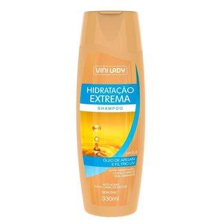 Shampoo Hidratação Extrema Óleo de Argan e Filtro UV 330ml Vini Lady