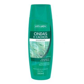 Shampoo Ondas e Cachos Colágeno e Aloe Vera 330ml Vini Lady